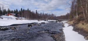 Pyhäjoki Myllypirtillä keväällä 2021